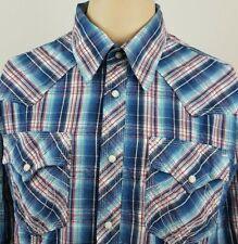 TRUE RELIGION Western Pearl Snap Mens Casual Multi Color Long Sleeve Shirt Sz XL