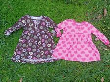 Hanna Andersson Girls Daydress Playdress Size 80 2T Dress LOT OF 2