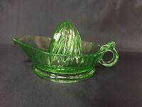 Jeannette Depression Glass Green Reamer Juicer