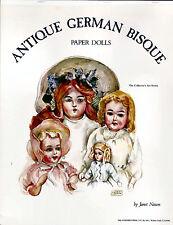 Antique German Bisque Dolls Paper Dolls New Uncut