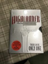 New Sealed Highlander:The Immortal Edition Dvd w/ Queen Cd Steel Case -
