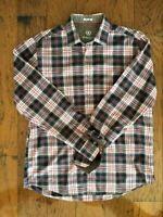 Bugatchi Men's long sleeve button down shirt, Plaid -  Shaped Fit - Large