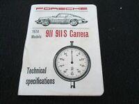 PORSCHE 924 libro di specifica tecnica Manuale di Officina
