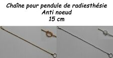 CHAÎNE BOULE EN MÉTAL POUR PENDULE DE RADIESTHÉSIE - ANTI NŒUD - 15 cm