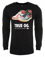 Air Jordan Mens Retro 1 True OG Long Sleeve Shirt Black/White