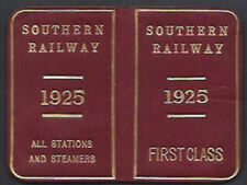Antique Red Leather Southern Railway First Class SPECIMEN Pass 1925