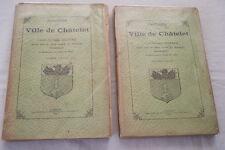 BELGIQUE HISTOIRE DE LA VILLE DE CHATELET 2/2-DARRAS-1898 ILLUSTRE