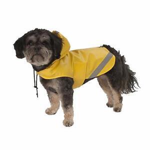 PETRAGEOUS PET DOG RAIN COAT LONDON SLICKER YELLOW SIZE SMALL & LARGE NWT