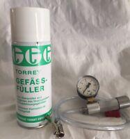 Gefäßfüller inkl. Anschlußadapter für Gefäßfüllflaschen MIT Absperrvorrichtung