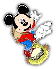 Mickey Mouse Skateboard Cartoon Car Bumper Sticker Decal 4'' x 5''