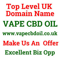 Domain Name 1yr old vapecbdoil.co.uk VAPE C B D OIL Exact Match Huge Potential