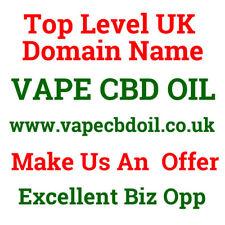 Domain Name 1yr old vapecbdoil.co.uk VAPE C B D OIL Exact Match Huge Potential