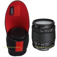 Neoprene DSLR Camera Lens Soft Protector Pouch Bag Case Set Black+Red Waterproof