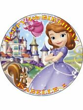 "Sophia Sofia The First-Design 5 personalizzato 7.5"" CERCHIO GLASSA cake topper"