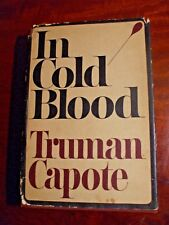 """TRUMAN CAPOTE """"IN COLD BLOOD"""" FIRST EDITION - SECOND PRINTING BOOK - 1965"""