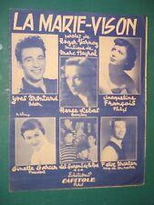 "Partition Chant acc. piano ""La marie-Vison"" METRAL VARNAY"