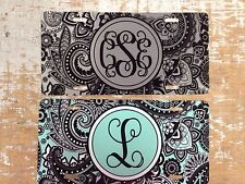 Paisley Personalized Monogrammed License Plate Car Tag Initials Custom New