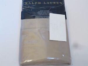 Ralph Lauren 624 Solid Sateen Queen Flat Sheet Cape Tan