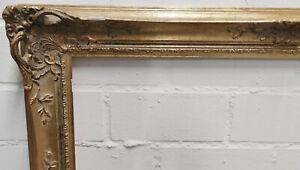 Holzrahmen gold verziert Falzmaß ca. 71x91 cm