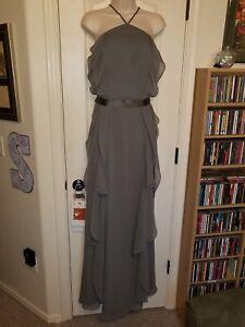 White Vera Wang Bridesmaid Dress size 12 Charcoal NWT