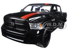 2014 DODGE RAM 1500 PICKUP TRUCK W/EXTRA WHEELS BLACK/RED STRIPE 1/24 JADA 98022
