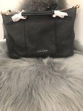 Ted Baker London Salbee Bridle Handle Black Rose Gold Leather Medium Tote Bag