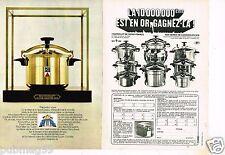 Publicité advertising 1970 (2 pages) Autocuiseur Cocotte SEB  en or