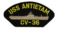 USS ANTIETAM CV-36 PATCH USN NAVY SHIP ESSEX CLASS AIRCRAFT CARRIER