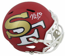 49ers Nick Bosa Authentic Signed Amp Full Size Speed Rep Helmet BAS Witnessed