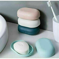Bathroom Shower Soap Box Dish Storage Plate Tray Case Holder Container Box US !