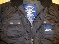 New Superdry Mens Quilted Lined Jacket Black Size S coat RRP £115