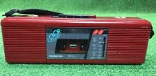 Vintage Soundesign Model 4617Bur Am-Fm Stereo Cassette Recorder Red Boombox Rare