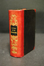 Dumas - Les trois Mousquetaires - Brüssel 1848 - Halbleder der Zeit