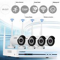 Floureon 4CH Wireless CCTV 1080P DVR Kit Wifi IP Camera Security Video Recorder