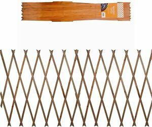 1 uk LIGHT BROWN Expanding 5ft x 2ft Wooden Trellis Garden Scissor Plant Fence