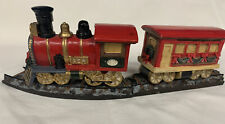 Mervyn's Holiday Village Square Train and Track 1990's 4pc Set Victorian Town