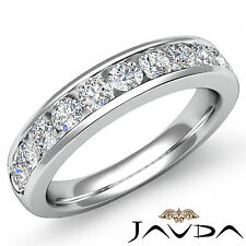 Diamond Womens Half Wedding Band 18k White Gold Round Channel Setting Ring 1Ct
