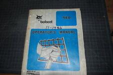 BOBCAT 980 SKID STEER Operation Operator Handbook Manual Owners Guide book shop