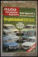 AMS Auto Motor Sport 12/71 * Opel GT/J Ford Taunus 1300 Renault 12 TL