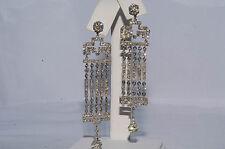 $12,000 4.35Ct Natural Diamond Chandelier Earrings 18K White Gold