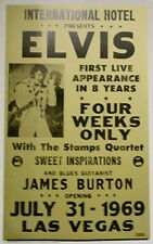 """Elvis Presley Concert Poster 1969 First Live Appearance in 8 Years 14""""x22"""""""