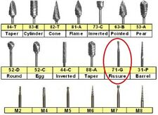 3/pk 71G Lab Carbide Bur Inverted  (HP Shank)