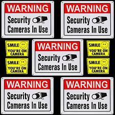 METAL HOME VIDEO SECURITY CCTV CAMERAS WARNING YARD SIGNS+WINDOW STICKER LOT