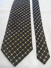 Anthony Men's Vintage Tie in Black with a Gold Geometric Pattern