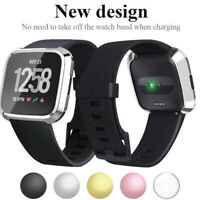 Fitbit Versa Screen Silicone Protector Case 360 Full Protection Gel Bumper Cover