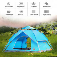 🔥Automatic 3-4 Man Person Family Tent Camping Anti-UV Waterproof Shelter  √ &