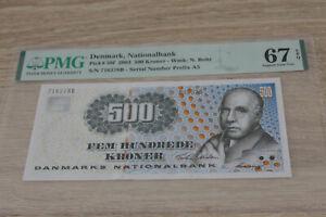 Denmark 500 kroner 2003 UNC p58f PMG67 @ low start