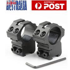 Pair Tactical Medium Profile Dovetail 11mm Scope Mount Rail Rings 1'' Inch /25.4