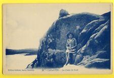 cpa Bretagne 29 - CARANTEC (Finistère) Rocher La CHAISE du CURÉ Animé