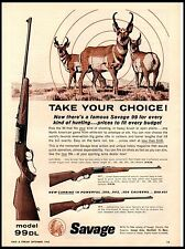 1962 Savage Model 99DL 99F 99E Rifle Vintage Print Ad
